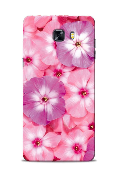 Purple Pink Flower Samsung Galaxy C9 Pro Mobile Back Cover
