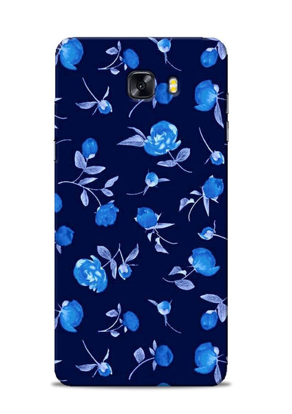 The Blue Flower Samsung Galaxy C9 Pro Mobile Back Cover