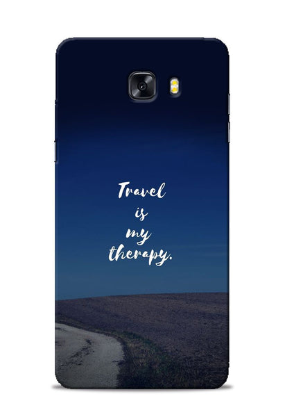 Travel Is My Therapy Samsung Galaxy C9 Pro Mobile Back Cover