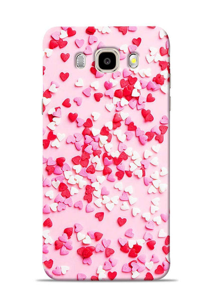 White Red Heart Samsung Galaxy J5 2016 Mobile Back Cover