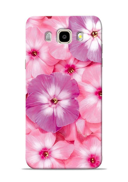 Purple Pink Flower Samsung Galaxy J5 2016 Mobile Back Cover