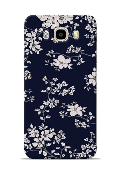 The Grey Flower Samsung Galaxy J5 2016 Mobile Back Cover