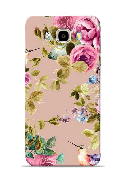 Red Rose Samsung Galaxy J5 2016 Mobile Back Cover