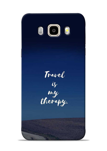 Travel Is My Therapy Samsung Galaxy J5 2016 Mobile Back Cover