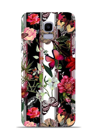 Butterfly Flower Samsung Galaxy J6 Mobile Back Cover
