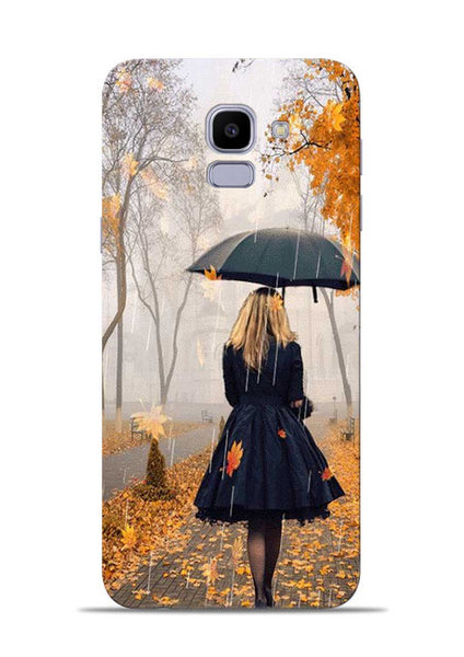 Walk In A Rain Samsung Galaxy J6 Mobile Back Cover
