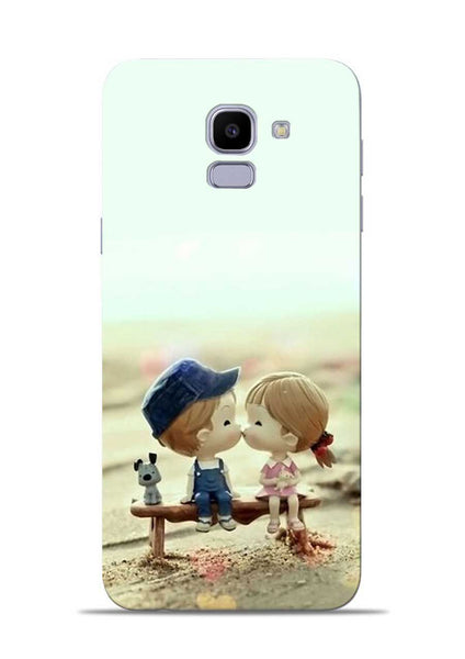 The First Kiss Samsung Galaxy J6 Mobile Back Cover