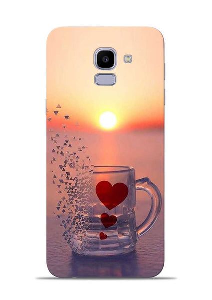 The Hearts Samsung Galaxy J6 Mobile Back Cover