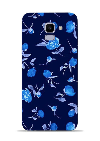 The Blue Flower Samsung Galaxy J6 Mobile Back Cover