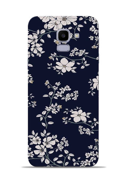 The Grey Flower Samsung Galaxy J6 Mobile Back Cover
