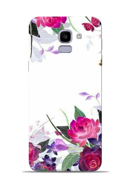 The Great White Flower Samsung Galaxy J6 Mobile Back Cover