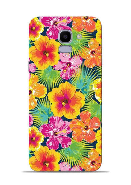 Garden Of Flowers Samsung Galaxy J6 Mobile Back Cover