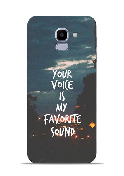 Your Voice Samsung Galaxy J6 Mobile Back Cover