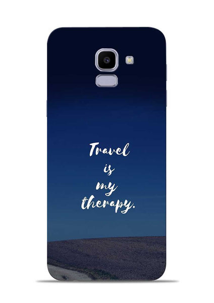 Travel Is My Therapy Samsung Galaxy J6 Mobile Back Cover