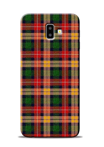 Green Checks Samsung Galaxy J6 Plus Mobile Back Cover