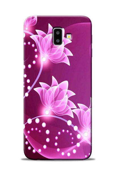 Pink Flower Samsung Galaxy J6 Plus Mobile Back Cover