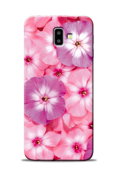 Purple Pink Flower Samsung Galaxy J6 Plus Mobile Back Cover