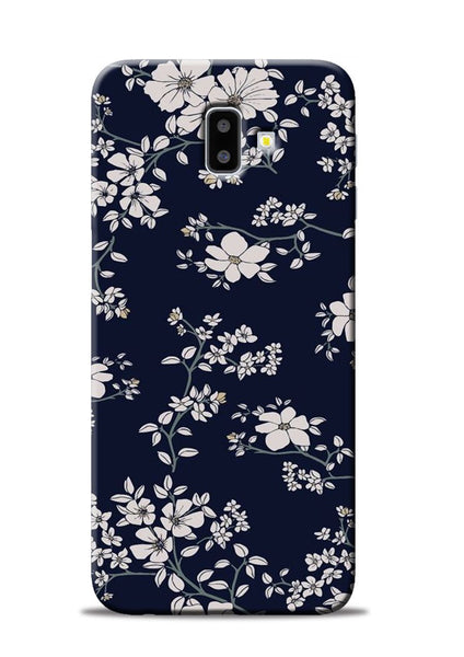 The Grey Flower Samsung Galaxy J6 Plus Mobile Back Cover