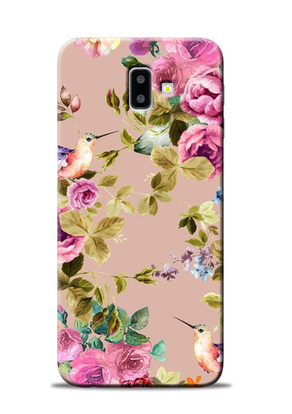 Red Rose Samsung Galaxy J6 Plus Mobile Back Cover