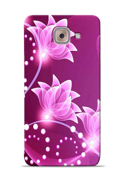 Pink Flower Samsung Galaxy J7 Max Mobile Back Cover