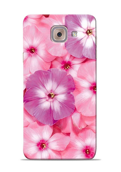 Purple Pink Flower Samsung Galaxy J7 Max Mobile Back Cover