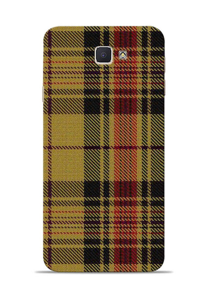 Brown Checks Samsung Galaxy J7 Prime Mobile Back Cover
