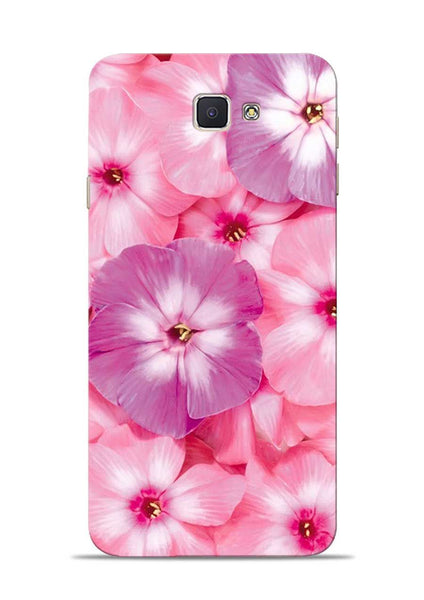 Purple Pink Flower Samsung Galaxy J7 Prime Mobile Back Cover