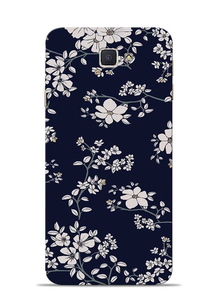 The Grey Flower Samsung Galaxy J7 Prime Mobile Back Cover
