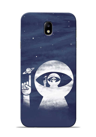 To Moon Samsung Galaxy J7 Pro Mobile Back Cover