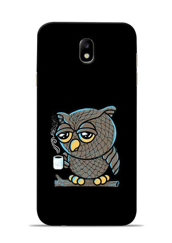 Sleepy Owl Samsung Galaxy J7 Pro Mobile Back Cover