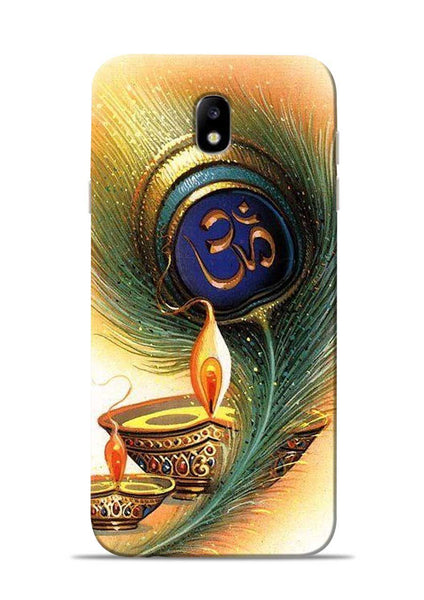 The Glowing Diya Samsung Galaxy J7 Pro Mobile Back Cover