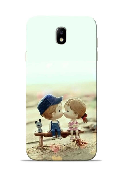 The First Kiss Samsung Galaxy J7 Pro Mobile Back Cover