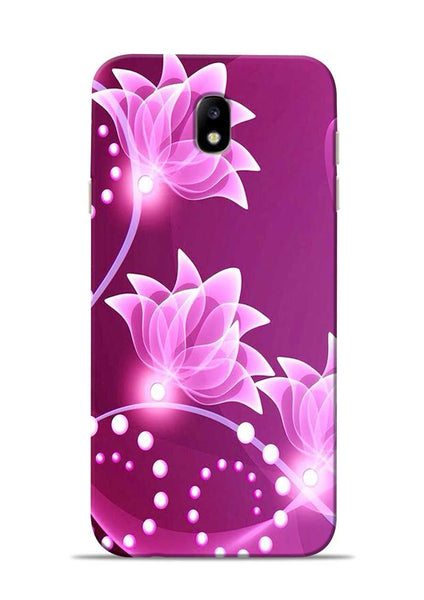 Pink Flower Samsung Galaxy J7 Pro Mobile Back Cover
