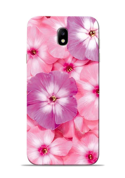 Purple Pink Flower Samsung Galaxy J7 Pro Mobile Back Cover