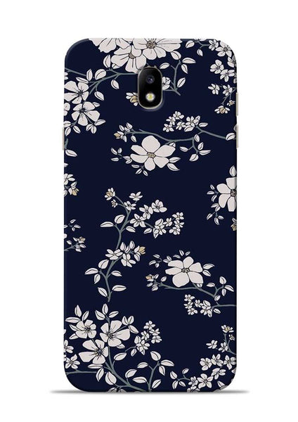 The Grey Flower Samsung Galaxy J7 Pro Mobile Back Cover