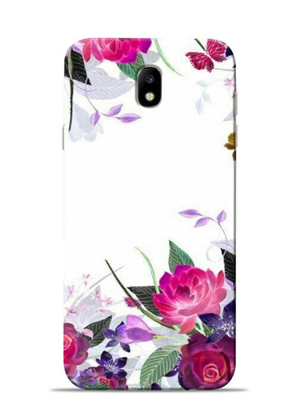 The Great White Flower Samsung Galaxy J7 Pro Mobile Back Cover