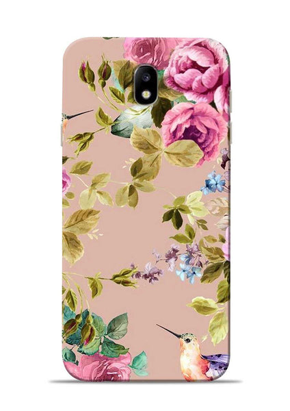 Red Rose Samsung Galaxy J7 Pro Mobile Back Cover