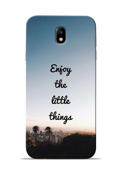 Enjoy The Little Things Samsung Galaxy J7 Pro Mobile Back Cover