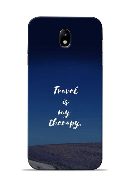 Travel Is My Therapy Samsung Galaxy J7 Pro Mobile Back Cover