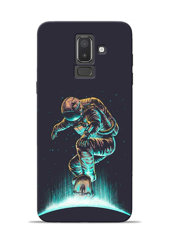 Astronaut Roller Skating Samsung Galaxy J8 Mobile Back Cover