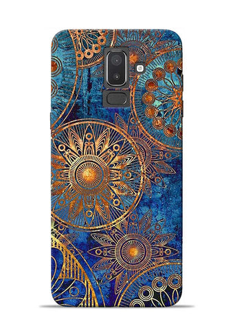 Copper Stamp Samsung Galaxy J8 Mobile Back Cover