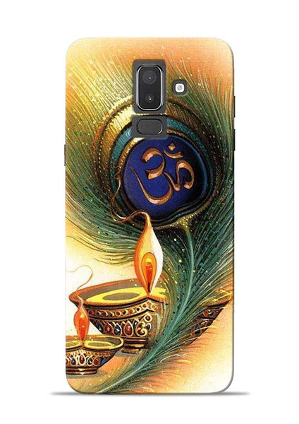 The Glowing Diya Samsung Galaxy J8 Mobile Back Cover
