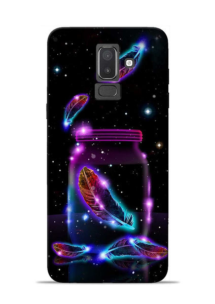 Glowing Bird Fur Samsung Galaxy J8 Mobile Back Cover