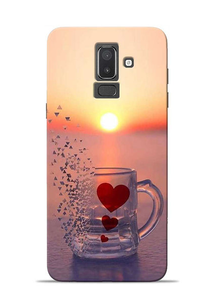 The Hearts Samsung Galaxy J8 Mobile Back Cover