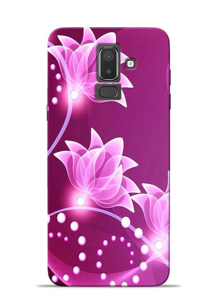 Pink Flower Samsung Galaxy J8 Mobile Back Cover