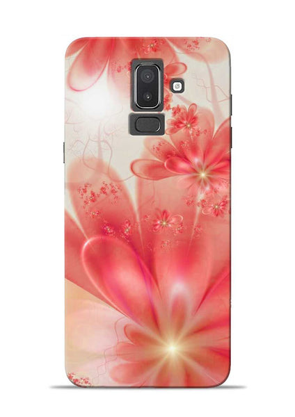 Glowing Flower Samsung Galaxy J8 Mobile Back Cover