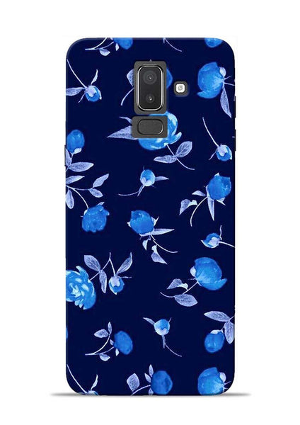 The Blue Flower Samsung Galaxy J8 Mobile Back Cover