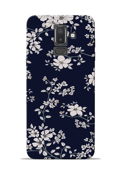 The Grey Flower Samsung Galaxy J8 Mobile Back Cover