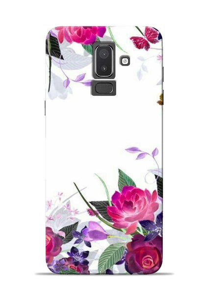 The Great White Flower Samsung Galaxy J8 Mobile Back Cover