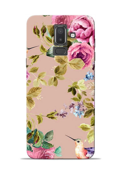 Red Rose Samsung Galaxy J8 Mobile Back Cover